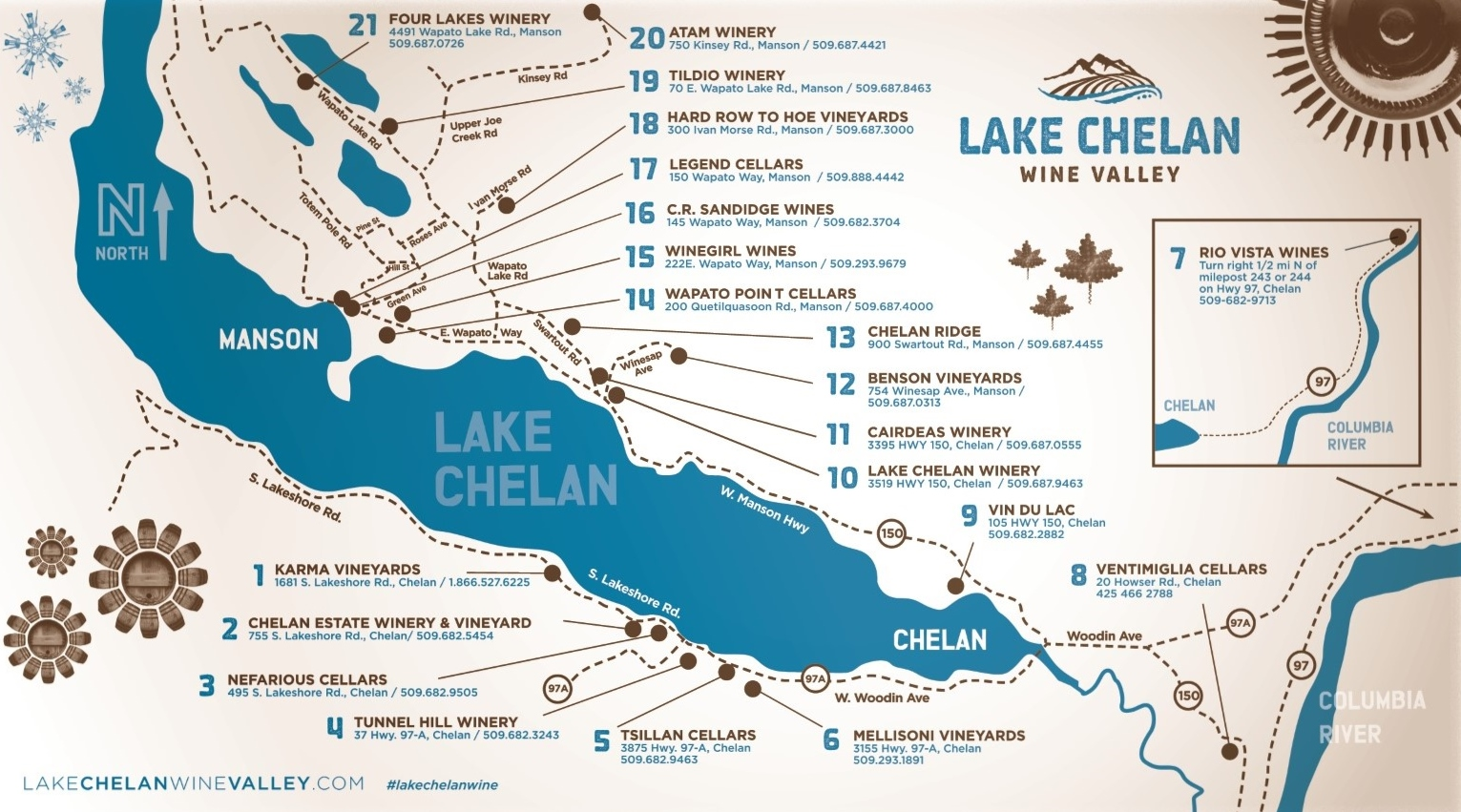 Visit the Lake Chelan Wine Valley